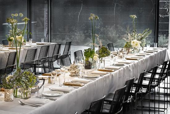 photo of Urban wedding reception venue with modern minimal decor