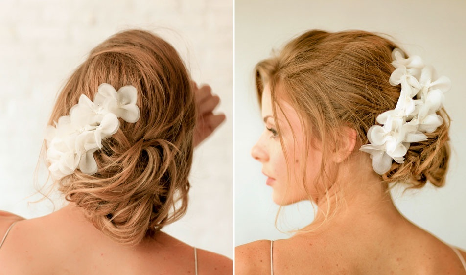 Romantic wedding hair accessories by Alice Padrul 1