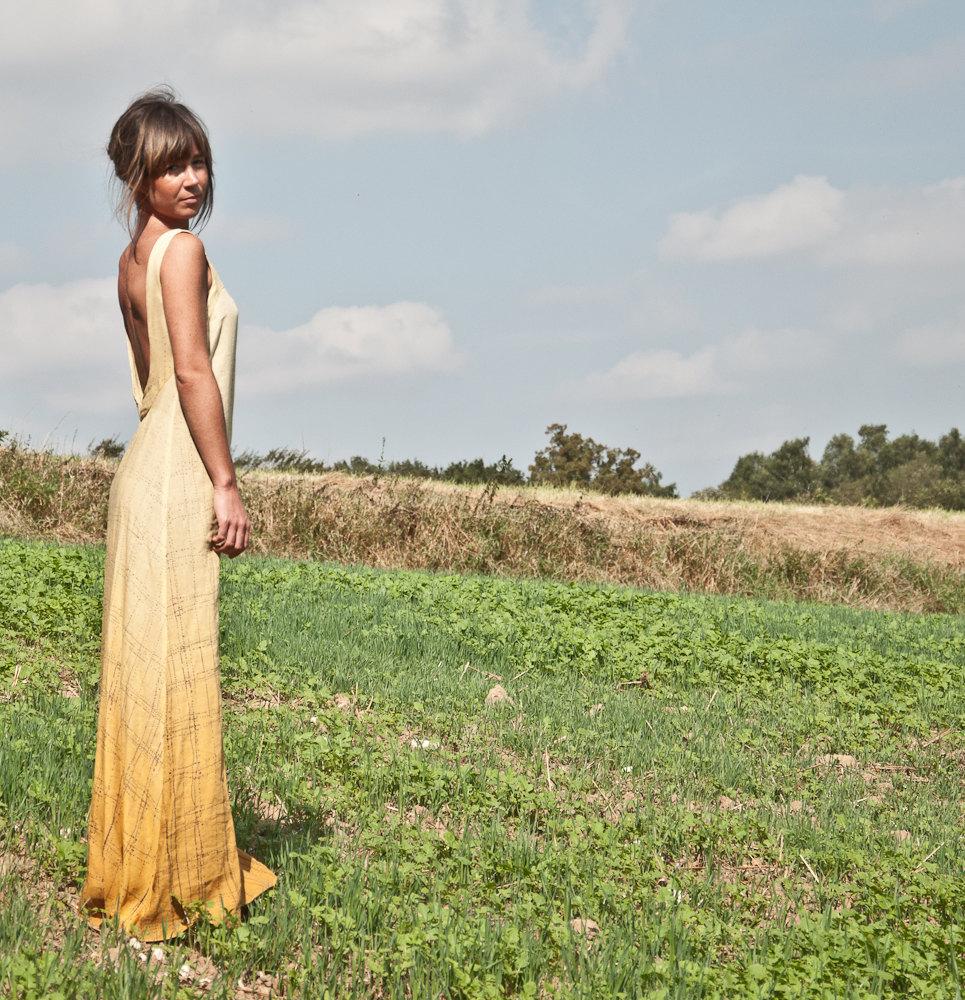 Alternative-wedding-dress-low-back-burnout-yellow.full