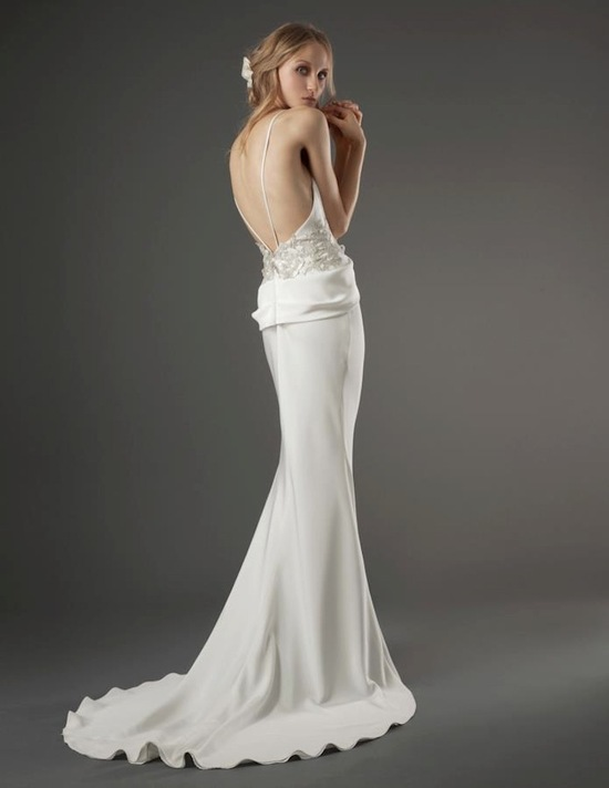 elizabeth fillmore wedding dress open back silk