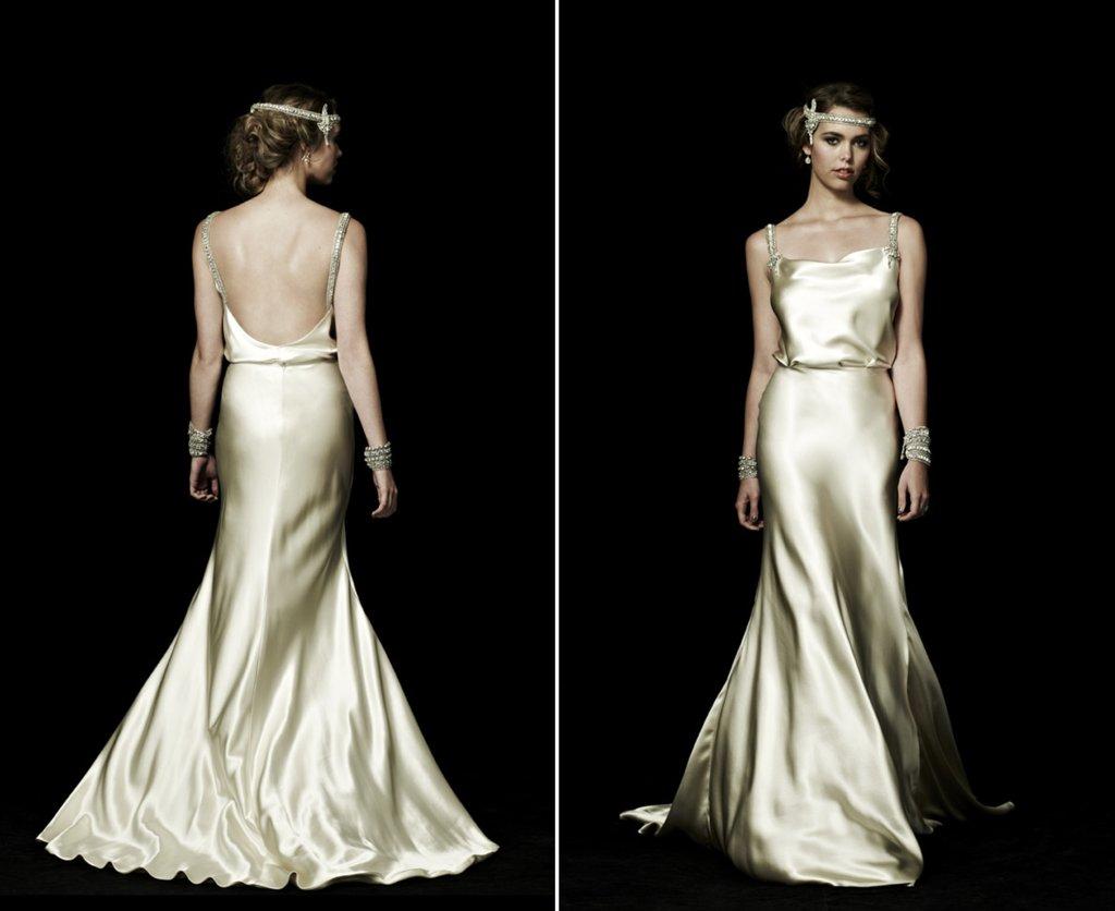 Vintage Satin Wedding Dresses KD Dress
