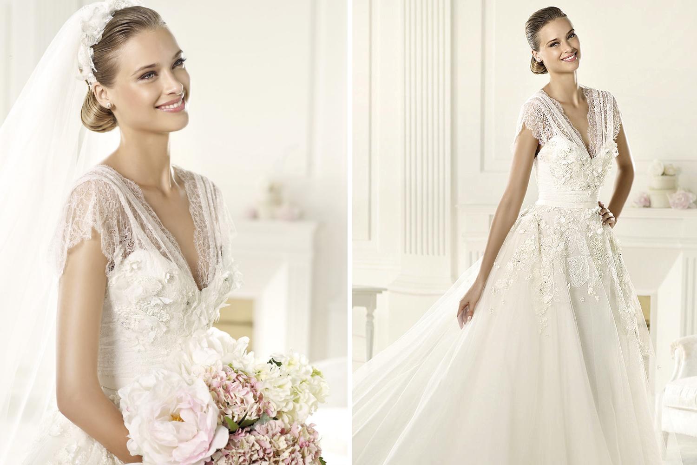2013 wedding gowns by pronovias elie saab bridal denisse for Elie saab wedding dress 2013