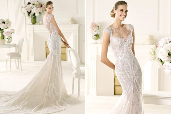 2013 Wedding Gowns by Pronovias Manuel Mota bridal 1