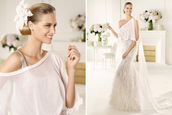 2013 Wedding Gowns by Pronovias Manuel Mota bridal Vals