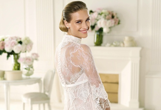 Manuel Mota 2013 wedding dress sheer lace back