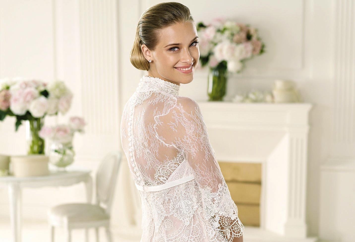 Manuel Mota 2013 Wedding Dress Sheer Lace Back