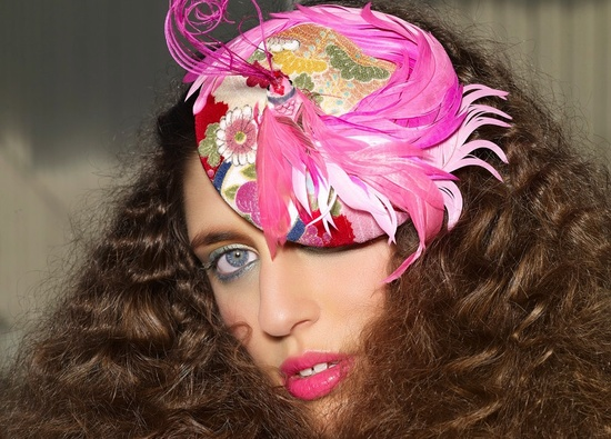 Funky pink hat for royal chic weddings