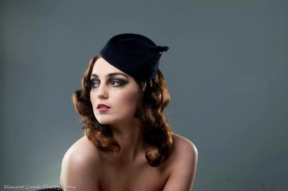 Deep-navy-pillbox-hat-for-bridesmaid.full