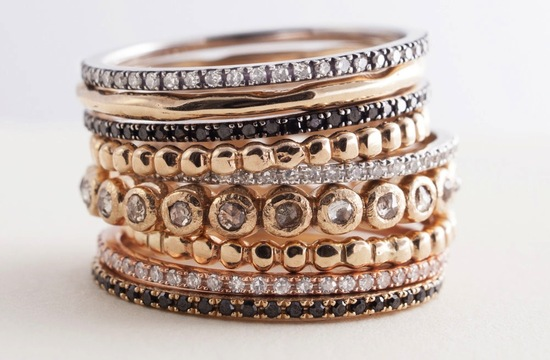 Gorgeous Stackable Wedding Bands Assorted Metals