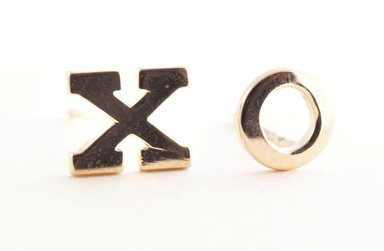 XO earrings for bridesmaids or mother of the bride
