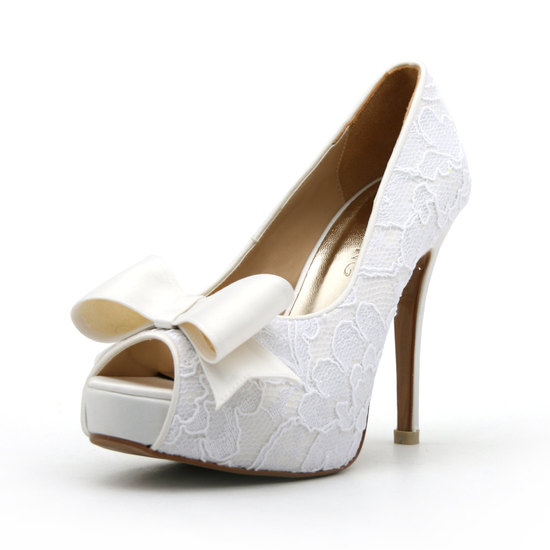 Romantic Nude Satin Wedding Shoes Floral Net