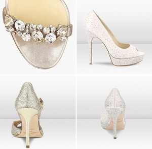 photo of New Jimmy Choo Bridal Shoes Collection Wedding Splurge 2