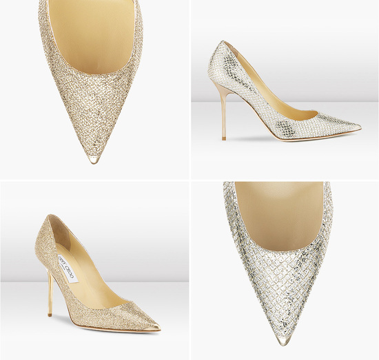 Gold and Silver Wedding Shoes by Jimmu Choo