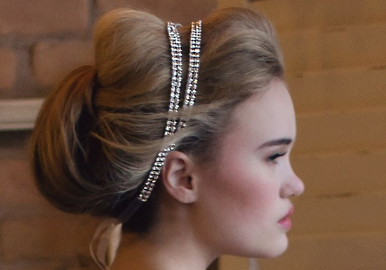 Double band beaded bridal headband