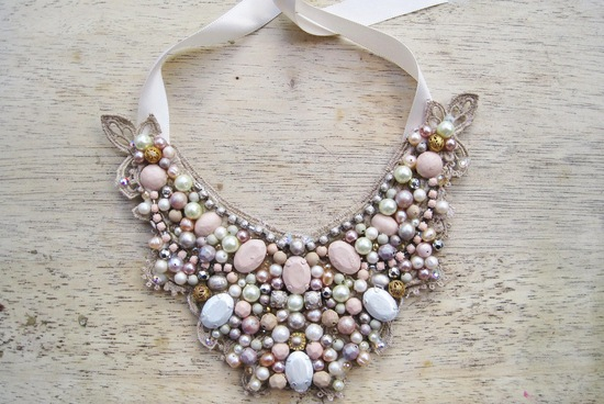 Beaded Statement Necklace Pastels