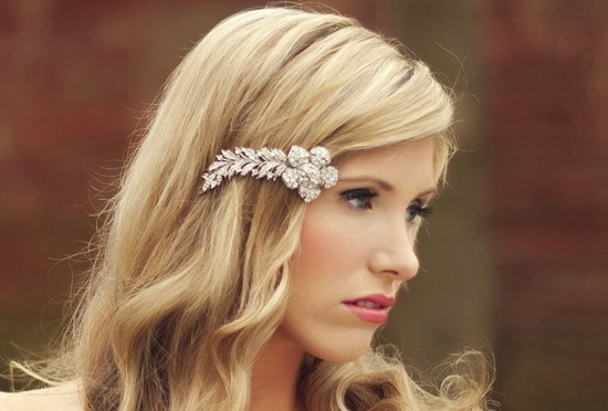 shooting star crystal wedding hair clip