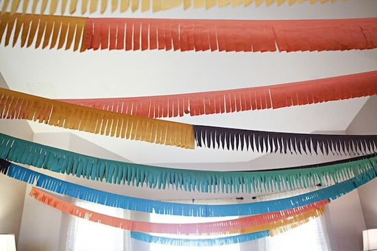Fringe party garland for the reception or pre wedding soirees