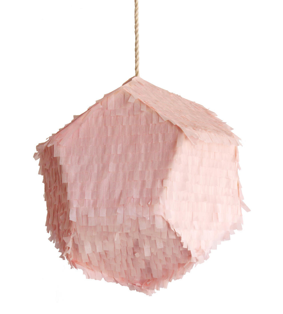 Pink tissue wedding reception decor accent