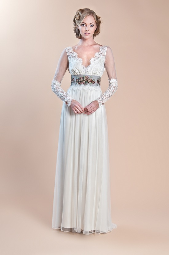 2013 wedding dress claire pettibone windsor rose collection abbey