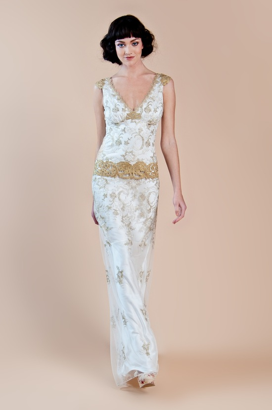 2013 wedding dress claire pettibone windsor rose collection deauville
