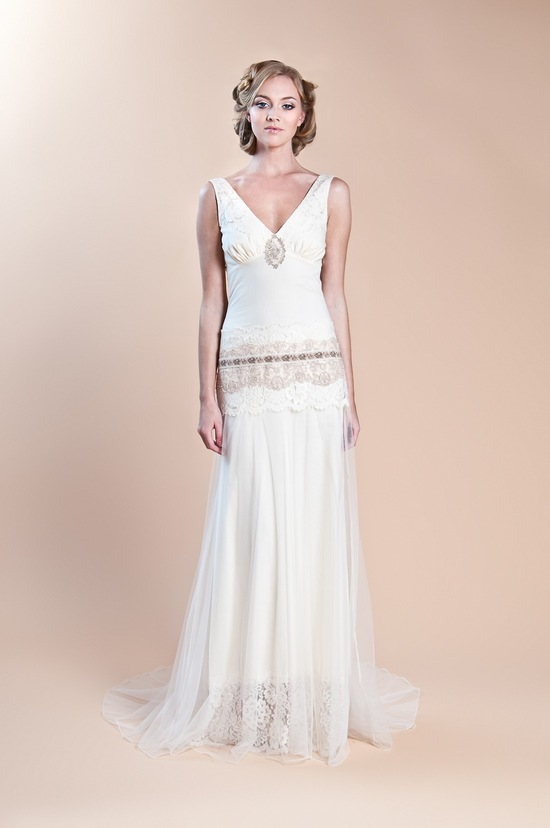 2013 wedding dress claire pettibone windsor rose collection haviland