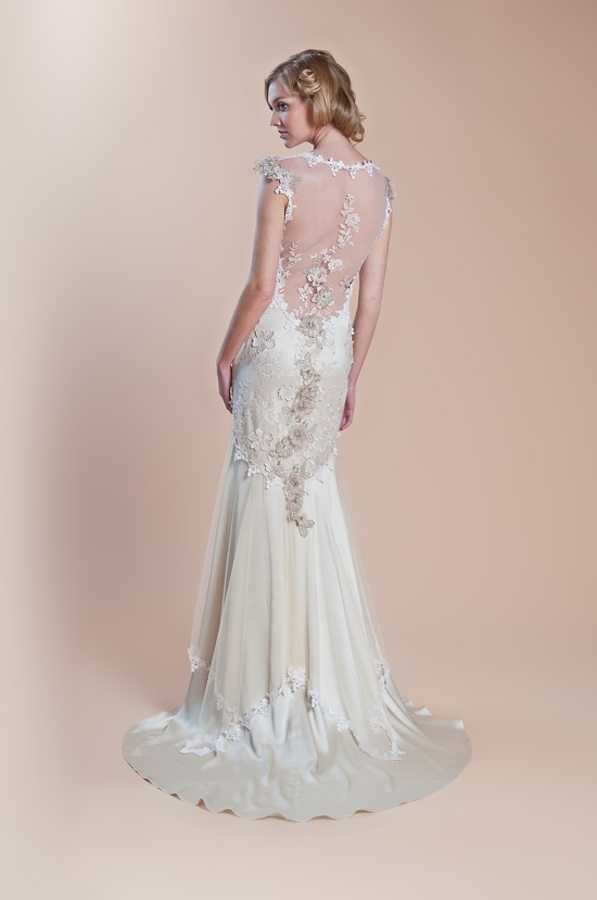 2013 wedding dress claire pettibone windsor rose collection hazel2