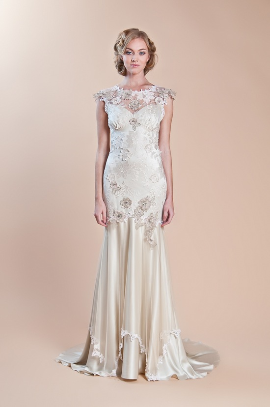 2013 wedding dress claire pettibone windsor rose collection viola