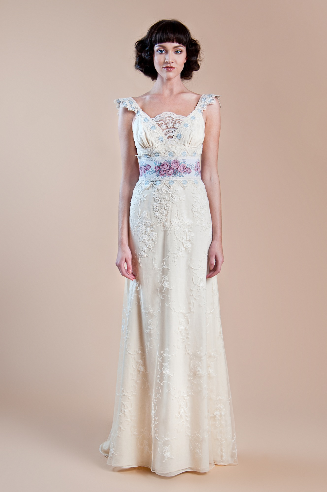 2013 Wedding Dress Claire Pettibone Windsor Rose Collection Waverly2 OneWed