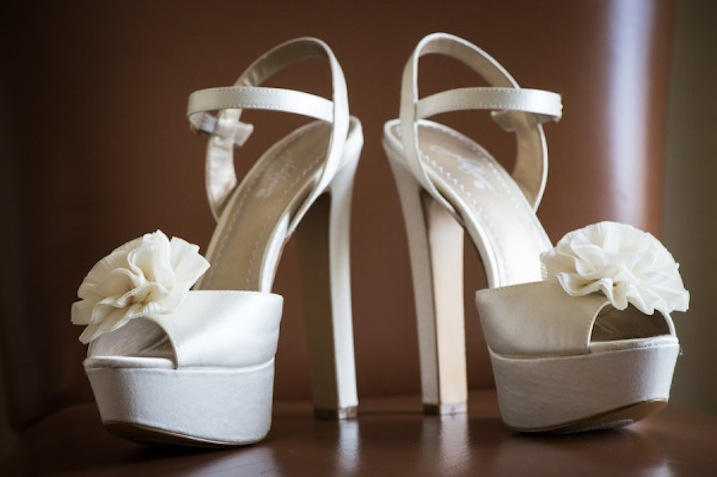 f3094a8ab671 Ivory platform wedding shoes with floral accents