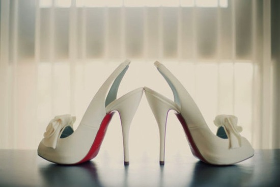 ivory platform wedding shoes Christian Louboutin