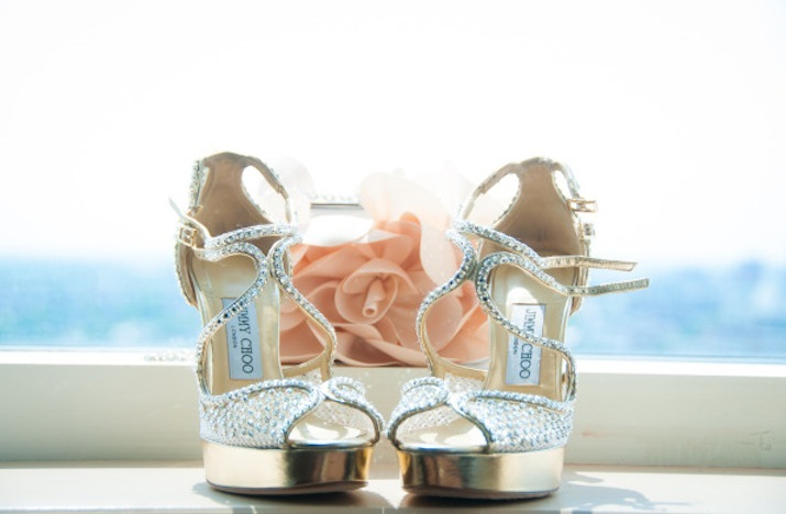 Gold Platform Wedding Shoes by Jimmy Choo