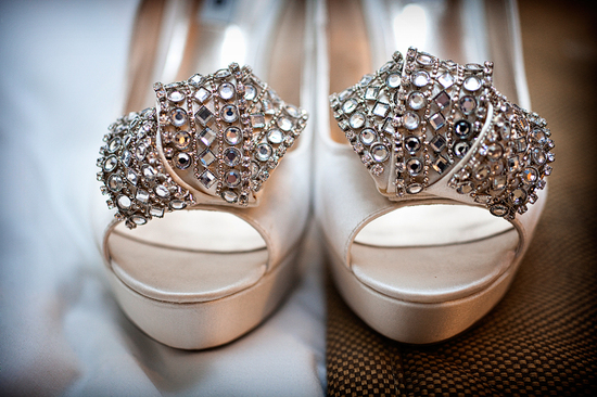 Art Deco Wedding Style Crystallized Bridal Heels