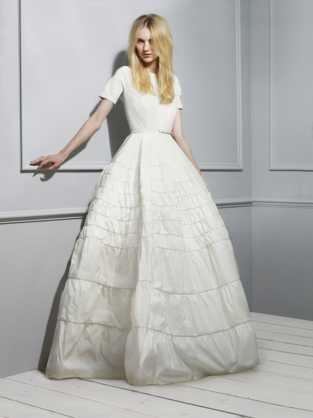 Rochas Taffeta Wedding Dress 2013 Exclusive Bridal Designer Collection from Net a Porter