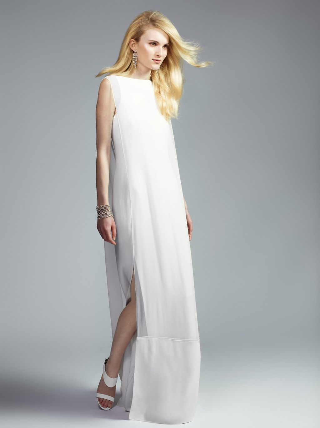 Chalayan crepe wedding dress 2013 exclusive bridal for The net a porter