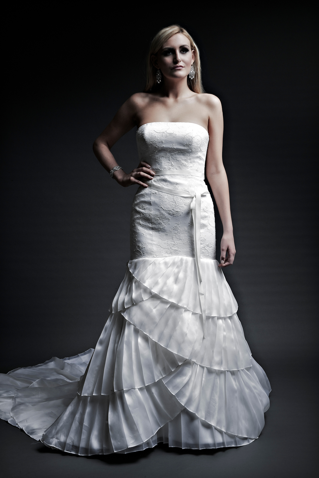 2013 wedding dresses designer Angel Rivera Victoria Collection becky front