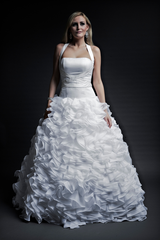 2013 wedding dresses designer Angel Rivera Victoria Collection brenda front