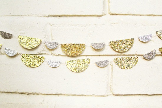 Mixed Metals Wedding Trend Sparkly Garland