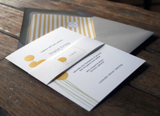 Matte silver gold white wedding stationery