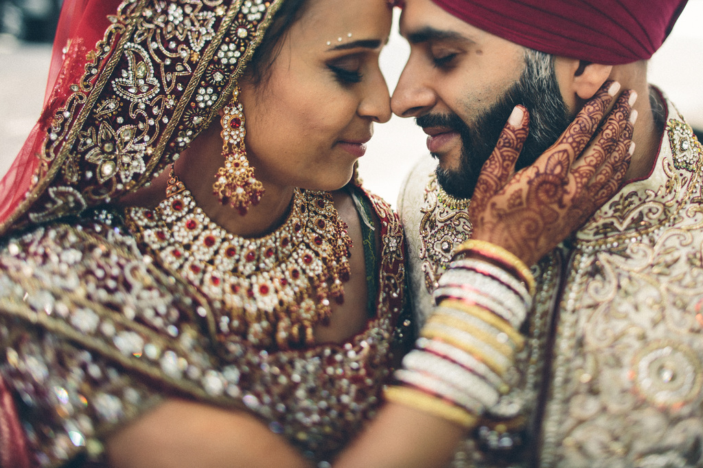 Touching-bride-and-groom-embrace-indian-wedding-in-toronto.full