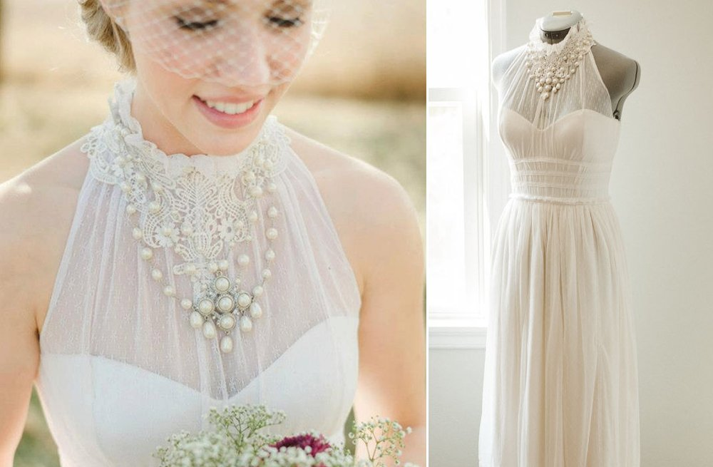 Lace wedding gowns handmade bridal 2
