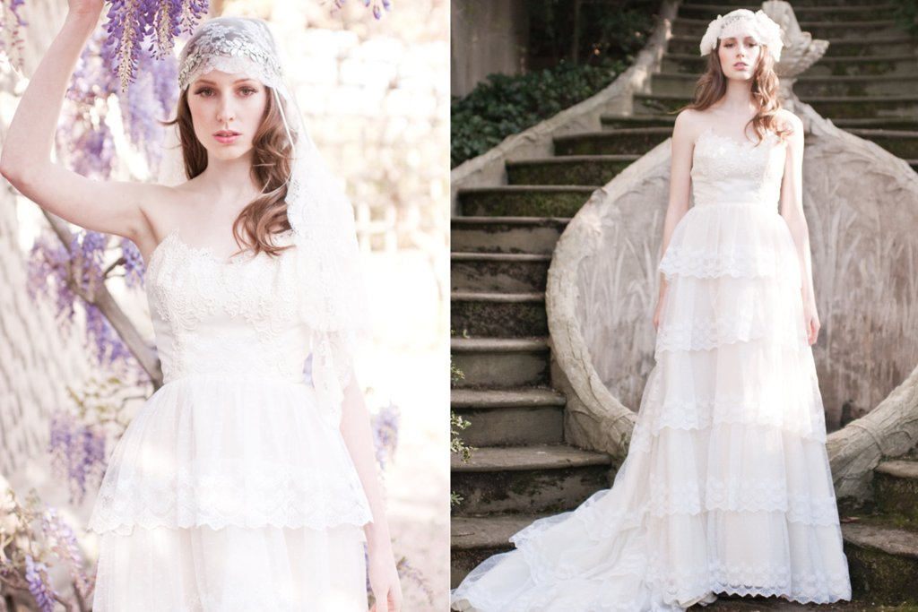 Lace-tiered-wedding-gown-for-bohemian-brides.full