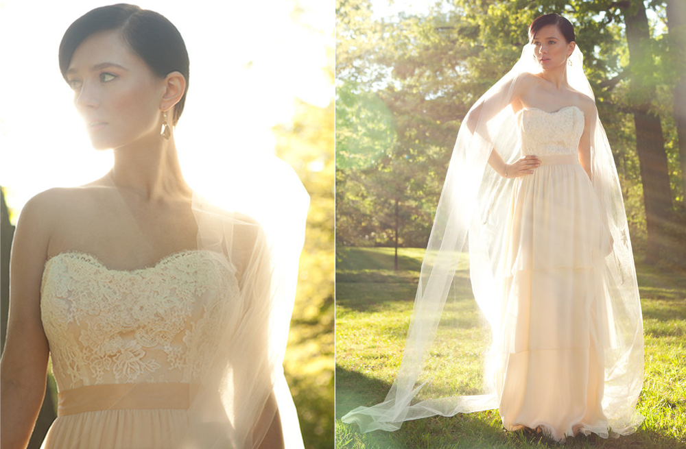 Blush Or Ivory Wedding Dresses : From gallery quot lace bridal stunners to wear down the aisle