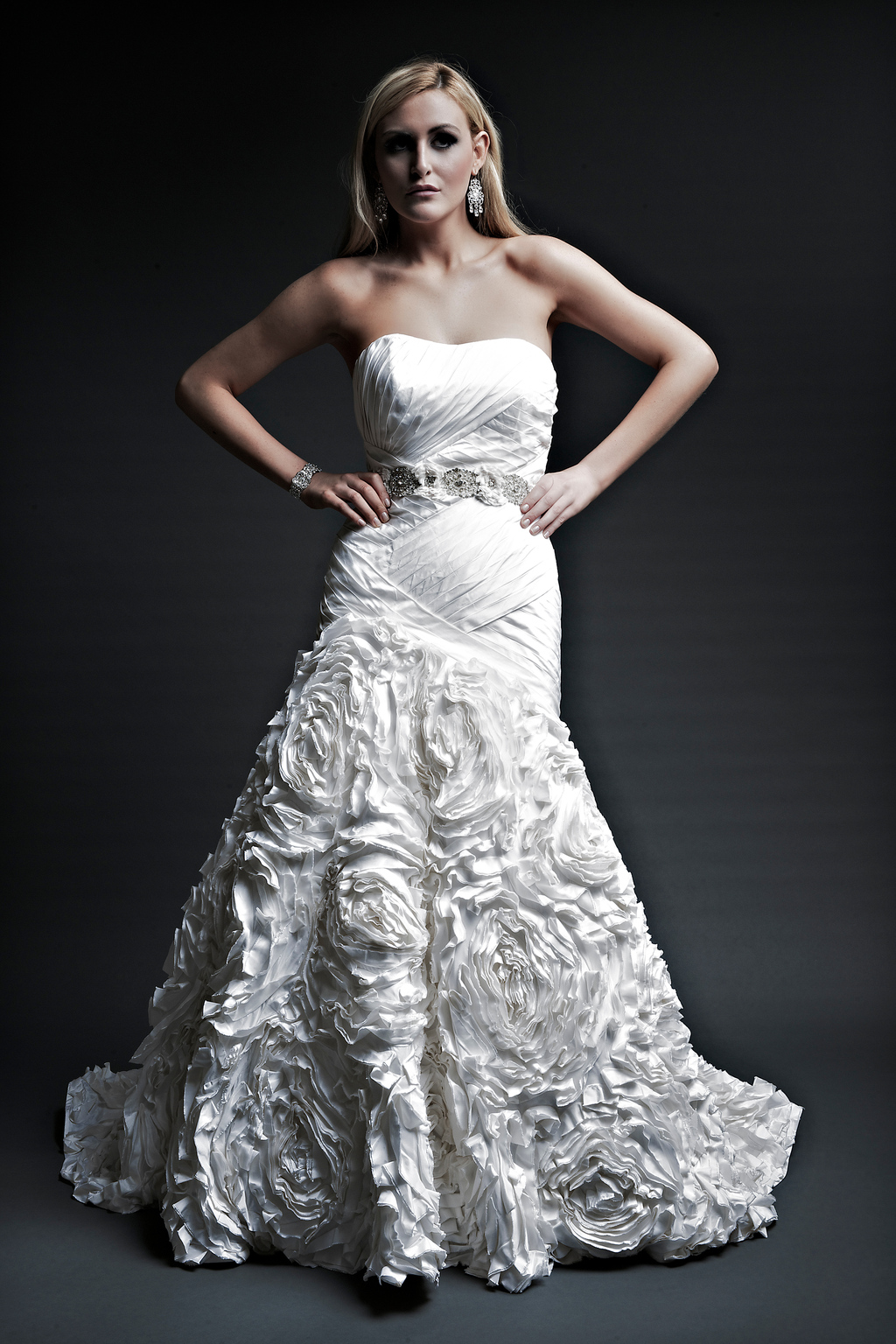 2013 wedding dresses designer Angel Rivera Victoria Collection dj front