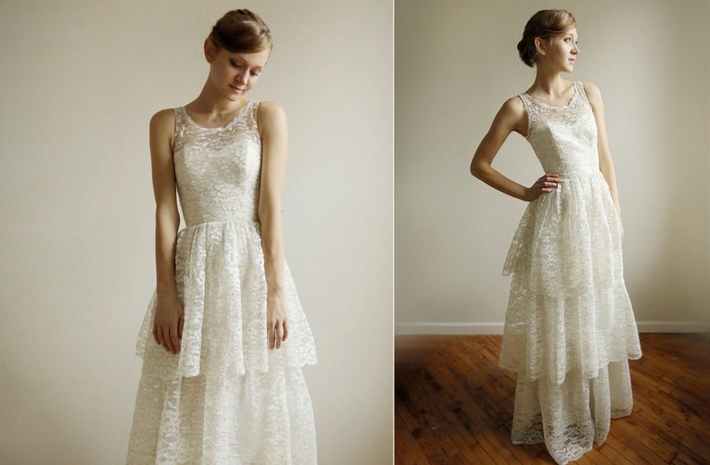 Illusion-neck-tiered-lace-wedding-dress.full