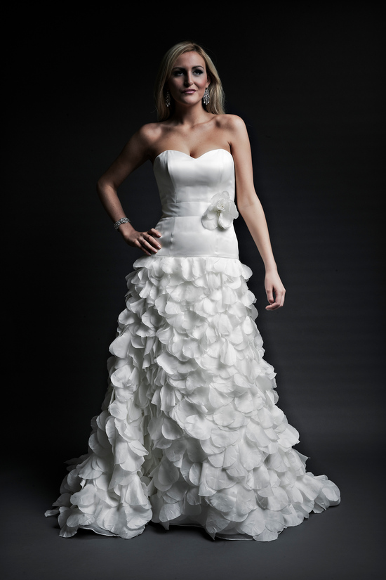 2013 wedding dresses designer Angel Rivera Victoria Collection joan front
