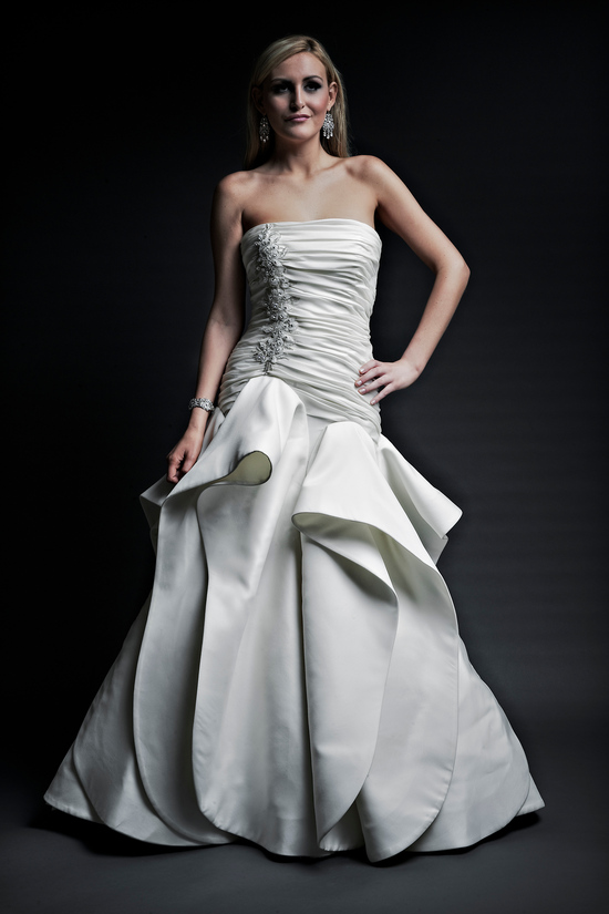 2013 wedding dresses designer Angel Rivera Victoria Collection lilliana front