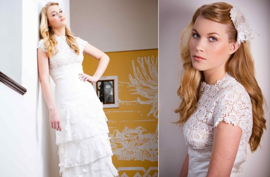 handmade lace wedding dress cap sleeves embellished skirt