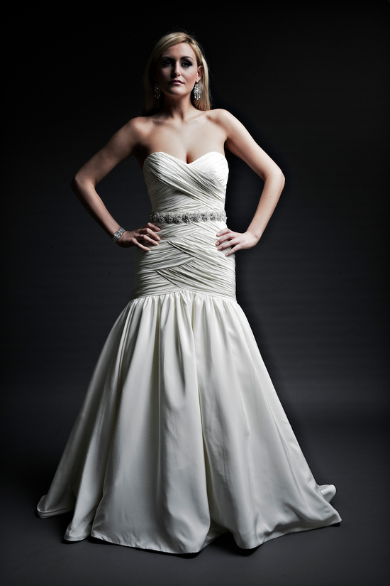 2013 wedding dresses designer Angel Rivera Victoria Collection maya front