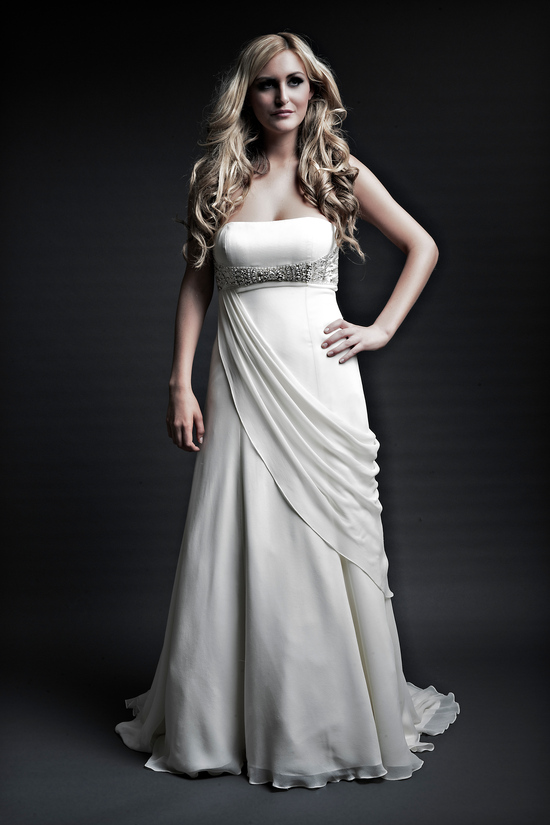 2013 wedding dresses designer Angel Rivera Victoria Collection melissa front