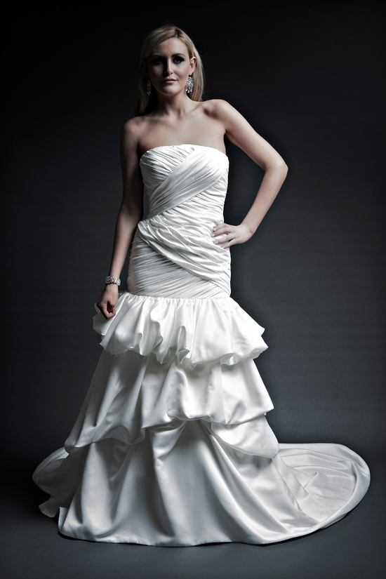 2013 wedding dresses designer Angel Rivera Victoria Collection pam front